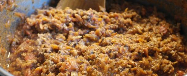 Köttfärssås till lasagnen