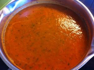 Färdig tomatsoppa