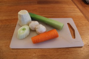 Grönsakerna är klara att skäras