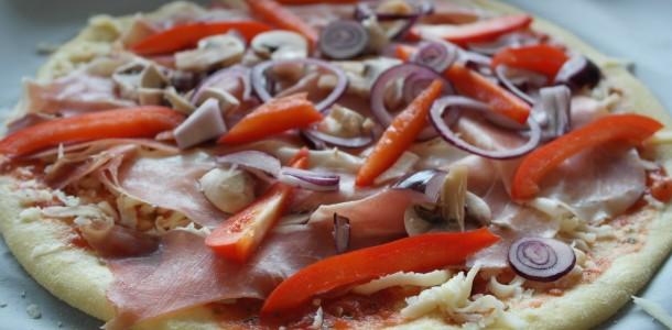 Pizza med fyllning