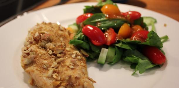 Kyckling med en läcker sallad