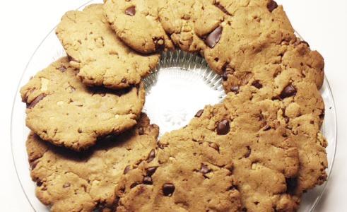 Cookies med 3 slags Chokoladsoter