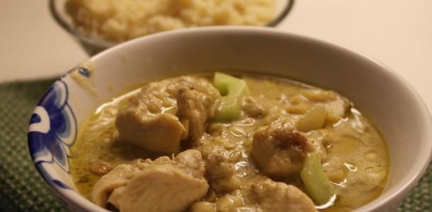 Grön currypasta med kyckling