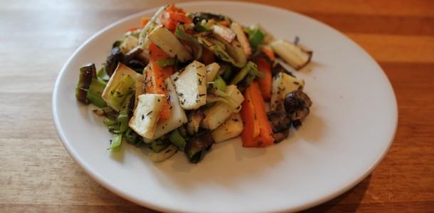 Grönsaksblandning med timjan