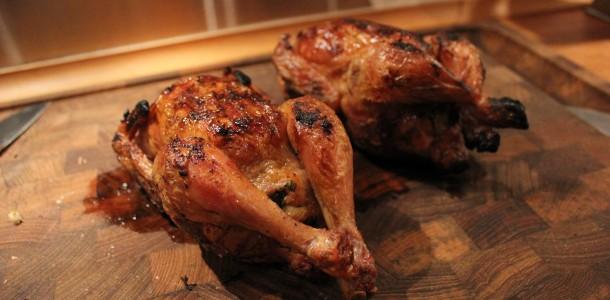 Kycklingar med fyllning
